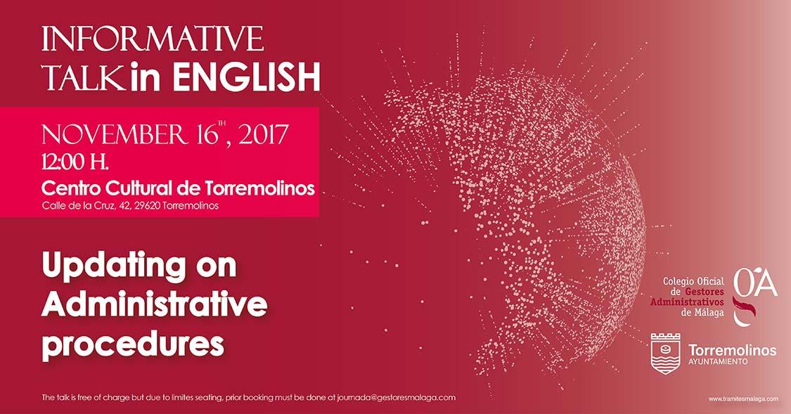 Los gestores administrativos organizan una jornada en inglés para los extranjeros de Torremolinos